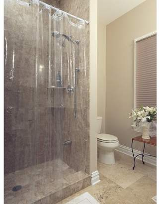 """clear 72"""" x 72"""" Ottomanson Durable Heavy Duty 10 Gauge Shower Curtain Liner with Rust Proof Metal Grommets"""
