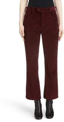 Isabel Marant Mereo Velvet Crop Flare Pants