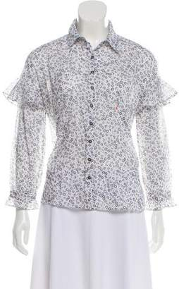 MiH Jeans Floral Button-Up Blouse