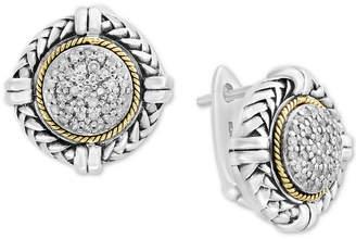 Effy Balissima by Diamond Cluster Stud Earrings (1/4 ct. t.w.) in Sterling Silver & 18k Gold