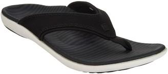 Spenco Orthotic Thong Sandals - Yumi Canvas Stripe