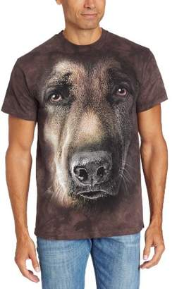 The Mountain German Shepherd Portrait Adult T-Shirt, Grey