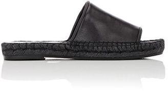 Robert Clergerie Women's Ela Espadrille Slides-BLACK $395 thestylecure.com