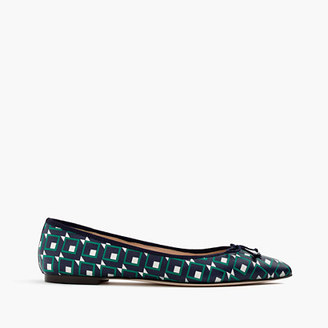 Gemma flats in shadowbox-print leather $128 thestylecure.com