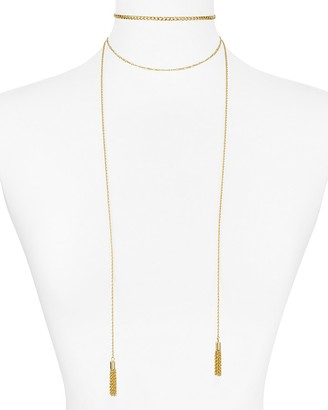 "AQUA Kristina Layered Necklace, 12"" - 100% Exclusive $32 thestylecure.com"
