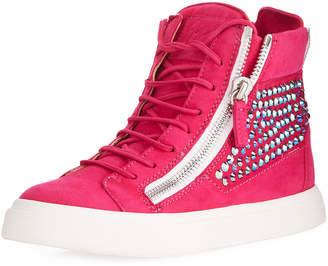 Giuseppe Zanotti Studded High-Top Leather Sneakers