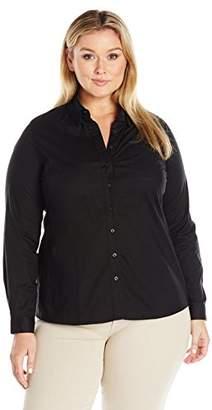 Dickies Juniors' Plus-Size Long-Sleeve Shirt