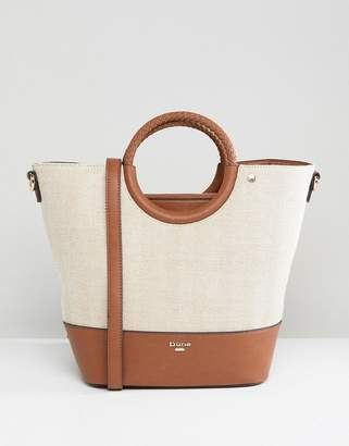 Dune Contrast Bucket Tote Bag