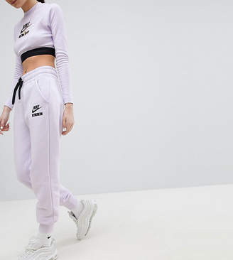 Nike High Waisted Joggers In Lilac