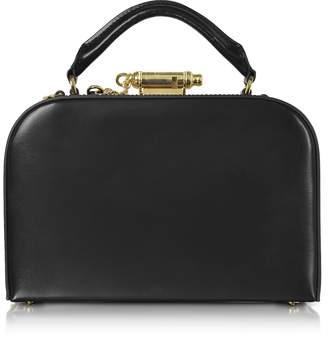 Sophie Hulme Black Leather Whistle Case Bag