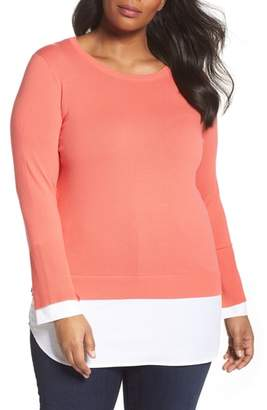 Vince Camuto Layered Look Sweater
