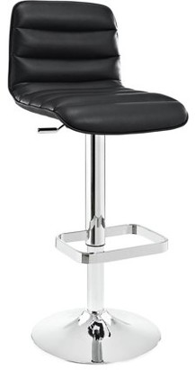 Modway Ripple Leatherette Bar Stool with Metal Base, Multiple Colors