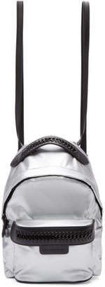 Stella McCartney Silver Mini Nylon Falabella GO Backpack