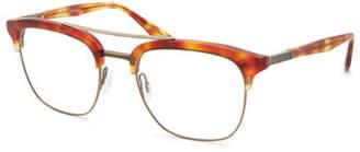 Barton Perreira Men's Lenox Half-Rim Matte Titanium Optical Frames