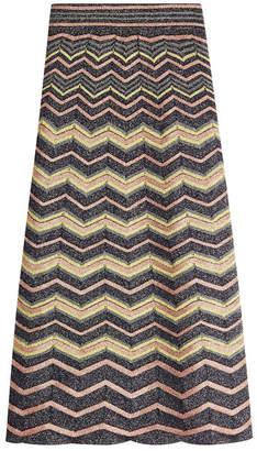 M Missoni Knit Skirt with Metallic Thread