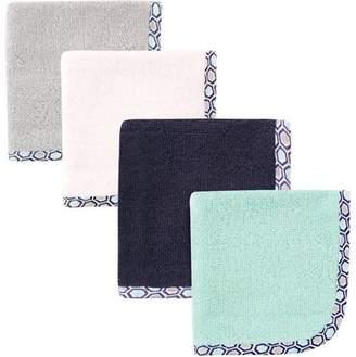 Hudson Baby Woven Washcloth, Honeycomb, 4 Pack