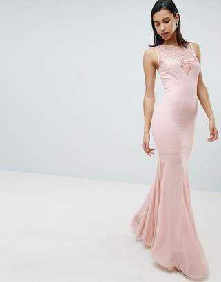 City Goddess Embellihsed Chiffon Maxi Dress
