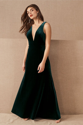 Jenny Yoo Logan Velvet Dress