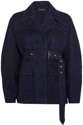 Isabel Marant - Pleyel Belted Denim Jacket - Dark denim $755 thestylecure.com