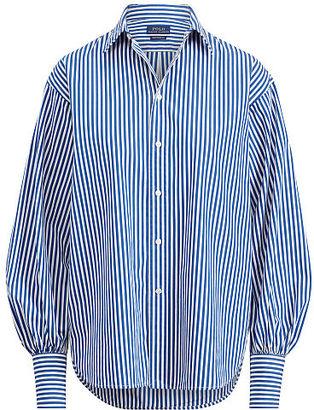 Polo Ralph Lauren Striped Cotton Boyfriend Shirt $125 thestylecure.com