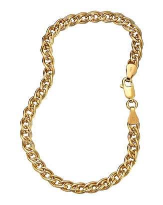 Fashion World 9 Carat Gold Double Link Bracelet