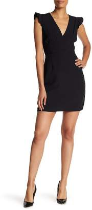 Chetta B Ruffle Sleeve Sheath Dress
