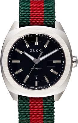 Gucci Stripe Fabric Strap Watch, 40mm