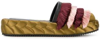 Marco De Vincenzo quilted fringed mules