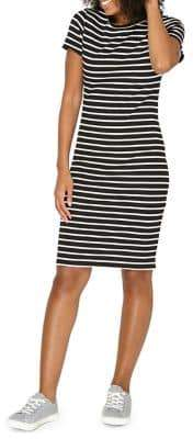 Dorothy Perkins Striped Short-Sleeve Bodycon Dress