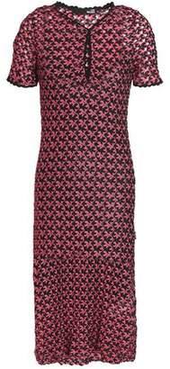 Love Moschino Metallic Crochet-Knit Mini Dress