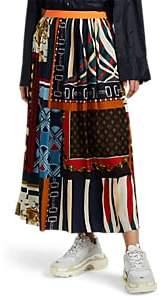 Kolor Women's Pleated Mixed-Print Skirt
