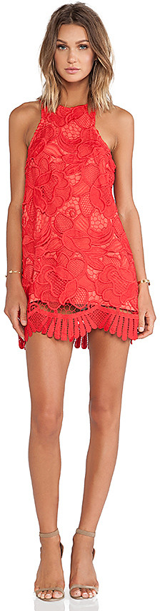 Lovers + Friends Caspian Shift Dress in Red. - size L (also in M,S,XS)