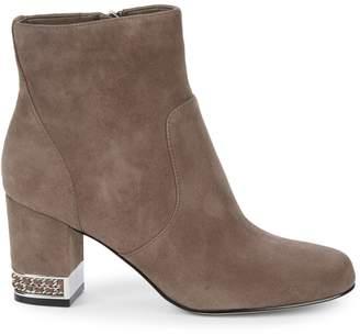 Karl Lagerfeld Paris Sophia Suede Block Heel Booties