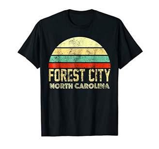 Forest City NC North Carolina Vintage Retro Sunset Tee T Shi