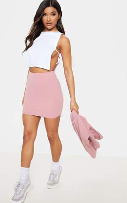 PrettyLittleThing Pink Mini Suit Skirt