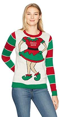 Ugly Christmas Sweater Company Women's Yaasss Queen Sweater