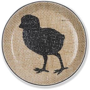 Simrin Farmyard Chick Coasters - Charcoal