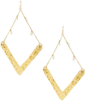 Devon Leigh Golden Wedge Dangle Drop Earrings