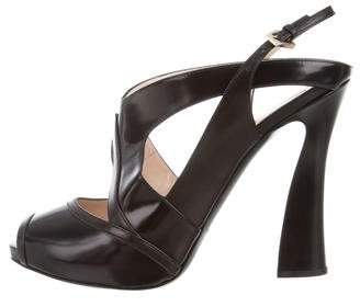 Giorgio Armani Cutout Ankle Strap Sandals