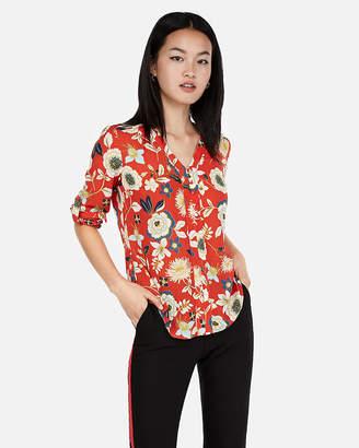 Express Floral Print Chelsea Shirt