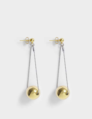 Aris Geldis Double Dome Gold Ball Earrings in Gold-Plated Brass