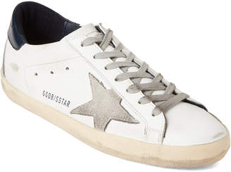 Golden Goose White & Grey Superstar Leather Low-Top Sneakers