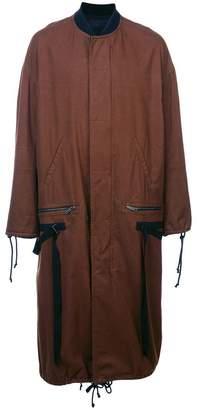Haider Ackermann long straight-cut coat