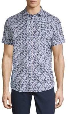 Slate & Stone Printed Cotton Button-Down Shirt