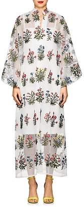 La Vie Style House Women's Floral-Embroidered Maxi Caftan