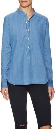 3x1 Women's Mandarin Collar Denim Shirt