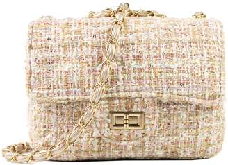 Goodnight Macaroon 'Stephanie' Almond Tweed Chain Bag