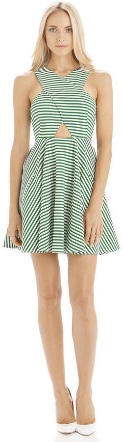 Torn By Ronny Kobo Vered Thin Stripe Dress