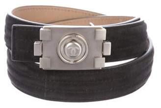 Chanel Suede Boy Belt Purple Suede Boy Belt
