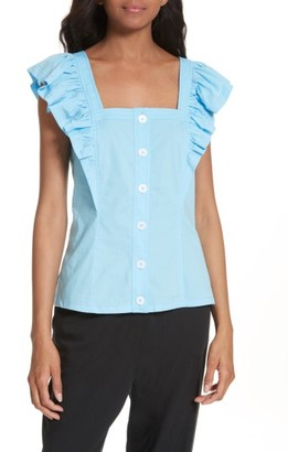 Women's Tracy Reese Ruffle Peasant Shirt $228 thestylecure.com